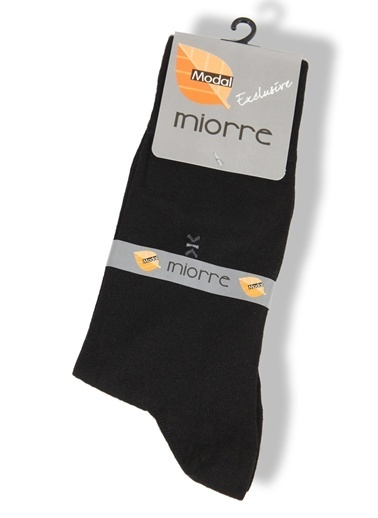 Miorre Desenli Modal Erkek Çorap Siyah